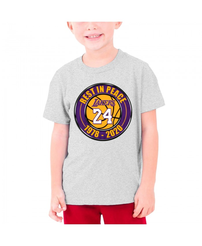 Best Lakers Ever Teenage T-shirt Los Angeles Lakers LAL Gray