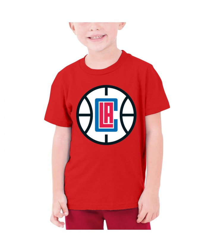 Buck Williams Teenage T-shirt Los Angeles Clippers LAC Red