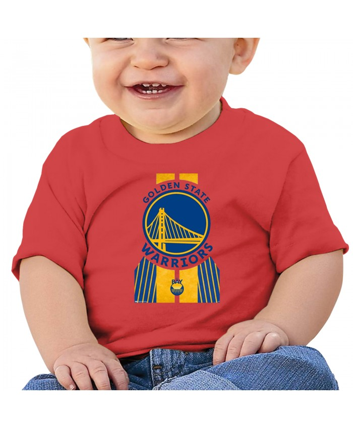 Damion Lee And Stephen Curry Baby T-shirt Trends International NBA Golden State Warriors Red