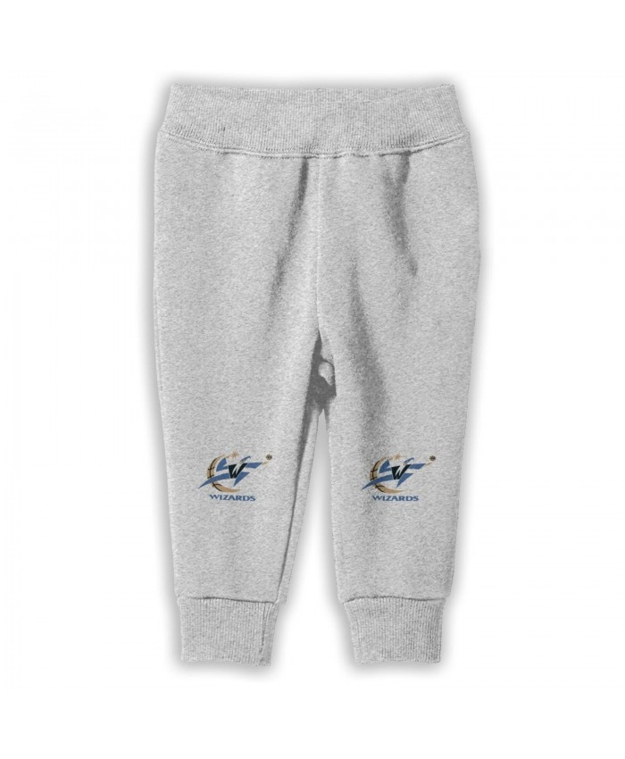 Devin Robinson Wizards Sweatpants for boys Washington Wizards Logo And Symbol, Meaning Gray