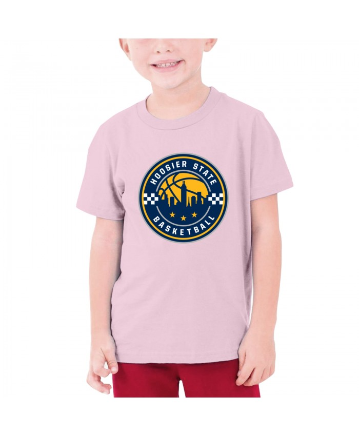 Indiana Pacers 24 Teenage T-shirt Indiana Pacers Alternate Logo Pink