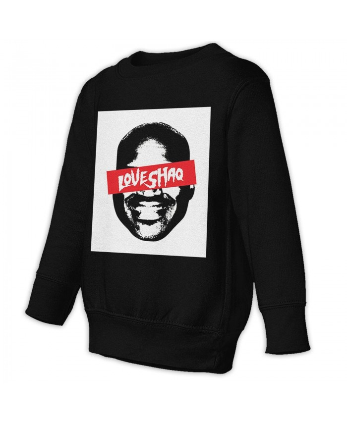 Most Nba Rings Toddler Juvenile Sweatshirt Shaquille O'Neal-themed Black