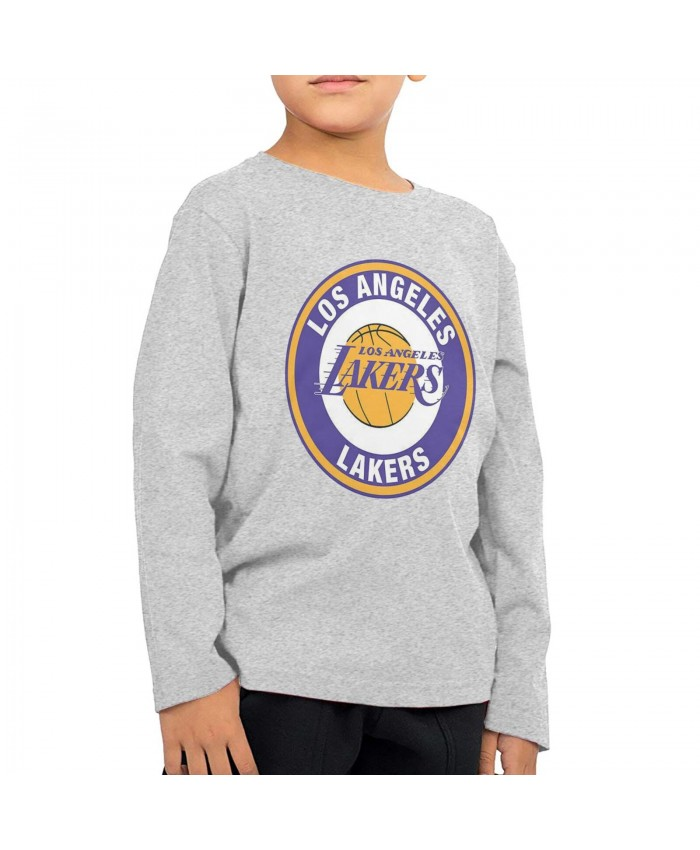 Pelicans Basketball Children's Long Sleeve T-shirt Los Angeles Lakers LAL Gray