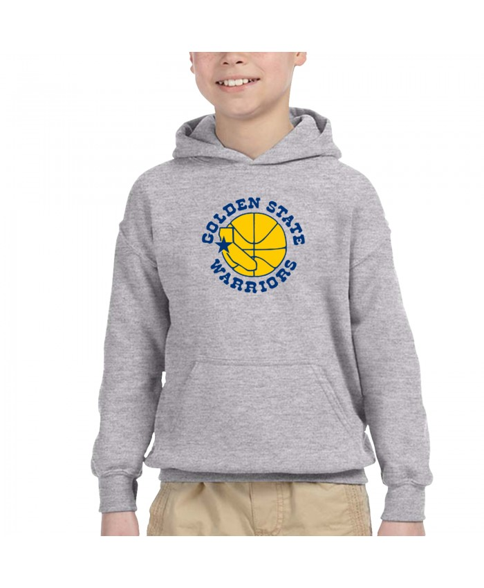 San Francisco Chronicle Warriors Children's Hooded Pocket Sweater The Golden State Warriors Gray